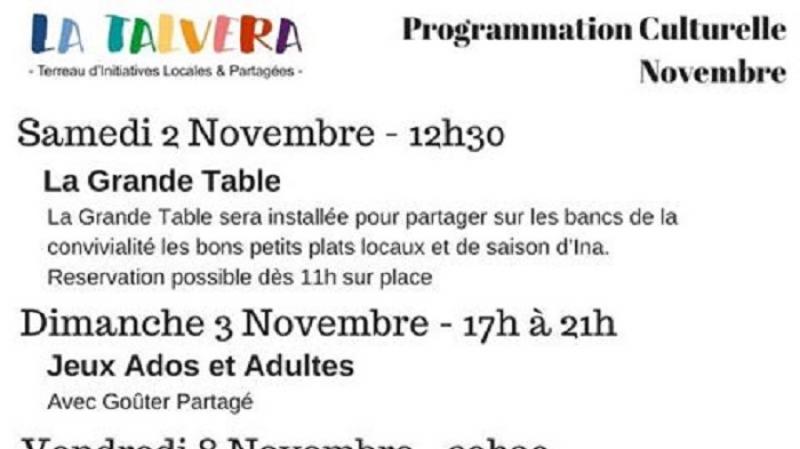 Programmation culturelle - La Talvera
