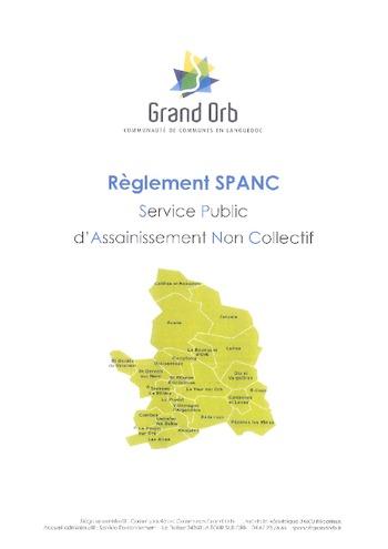 Grand Orb - SPANC - règlement 2016